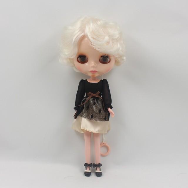ICY Neo Blythe Doll Elagent Golden Hair Regular Body 30cm