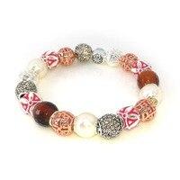Thomas Asian ETHNIC RED Great Blessing DIY Bead Female Bracelet, Rebel Heart Bracelet Jewelry For Women and Men TS B763