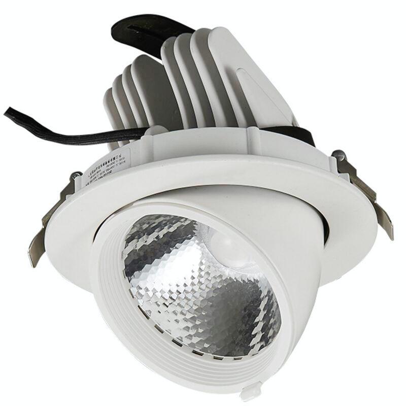 Lumière de tache de plafond montée par Surface de downlights de l'épi LED Rotation de 360 degrés 40 w LED AC85V-265V de corps blanc/noir de Downlight de plafond