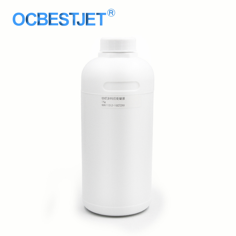 1000ML/Bottle Pre-Treatment Liquid For Textile Ink Pre-Coating For Textile Printer Before Printing Pretreatment Fluid 100% compatible 1000ml bottle textile pigment ink in bottle roland mimaki mutoh color y