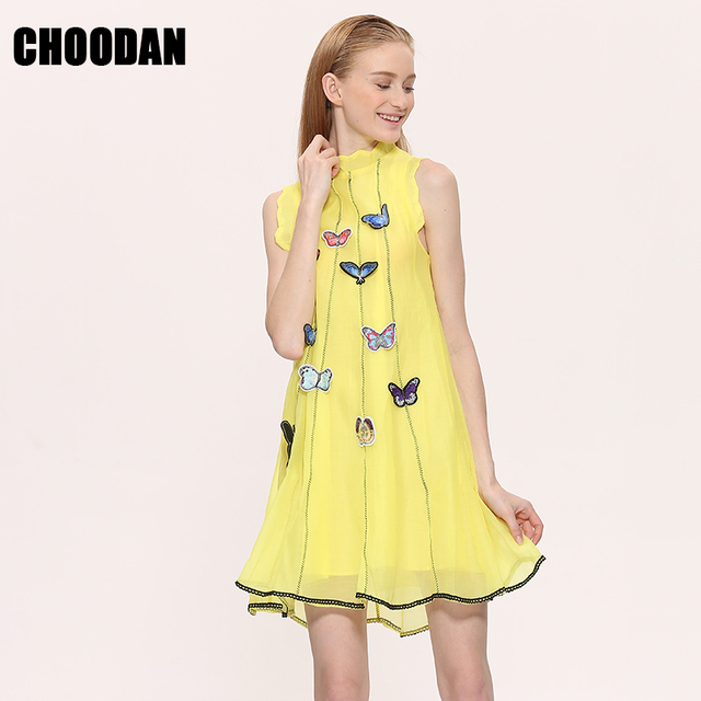 Summer Dress Women Butterfly Embroidery Dress 2018 New Fashion Organza  Elegant Mini Dresses Short Sexy Sleeveless Sweet Clothing a5a7878a9cce