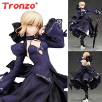 Tronzo Action Figure Fate Grand Order Saber Arturia Pendragon Alter PVC Action Figure Toys Fate Stay Night Black Saber Model Toy