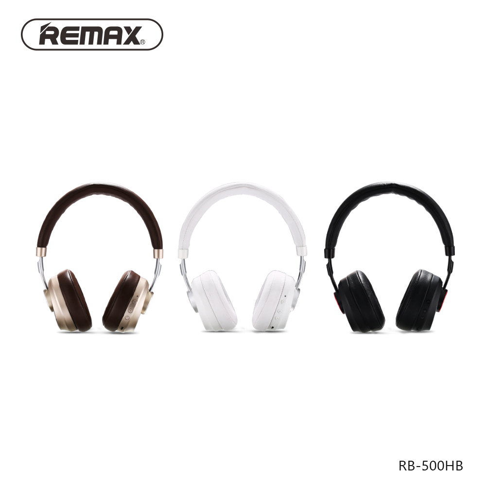 Remax 500HB Bluetooth V4.1 Headset HIFI Earphone Stereo Headband Noise Cancelling Head Phones for iphone xiaomi with Microphone - 4