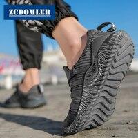 ZCDOMLER/Большие размеры 38-46, мужская повседневная обувь, дышащие легкие мужские кроссовки, черные Tenis Masculino, летние chaussure homme