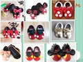 New cute Prewalkers Genuine Leather Toddler Baby moccasins Tassel Bow Baby shoes First Walkers dot ear Soft soled Shoes