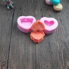 2pcs/set Heart Shaped Music Box Silicone Cake Decorating Mold Pastry Tool Sugarcraft Molds Chocolate Tools