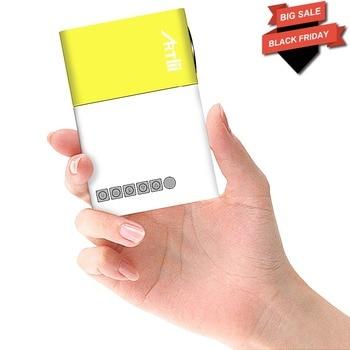 Artlii mini proyector de vídeo led 320*240 p/USB/SD/AV/HDMI/TV/película /juego/Camping