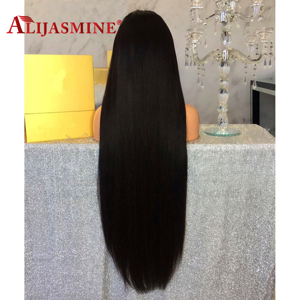 30Inch Long Lace Front Human Hair Wigs Straight Pre Plucked With Baby Hair Natural Color Peruvian Remy Lace Front Wig For Women-in Human Hair Lace Wigs from Hair Extensions & Wigs    2