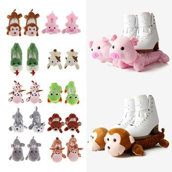 1 Pair Animals Ice Hockey Figure Skate Blade Covers Shoes Guards Terry Cloth Protects Blade from Rusting Chipping Accessories