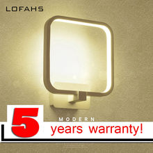 LOFAHS Modern LED Wall Lamp square round 12W Wall Sconce For Bathroom Bedroom Hallway living room Lamp AC85-265V LED Wall Light(China)