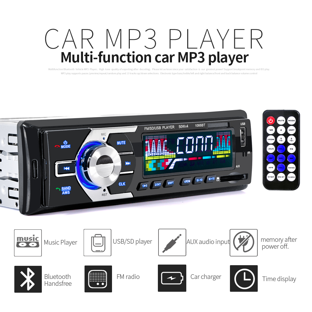 promotion 12v car auxin music radio mp3 player stereo fm usb audio auto electronics 1 din one. Black Bedroom Furniture Sets. Home Design Ideas