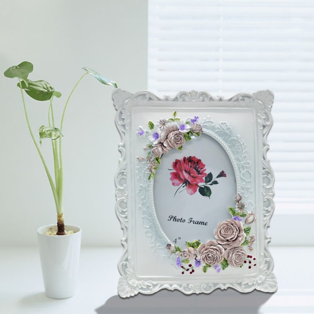 Giftgarden 4x6 Rustic Picture Frame Rose Decor White Frames 4 by 6 ...