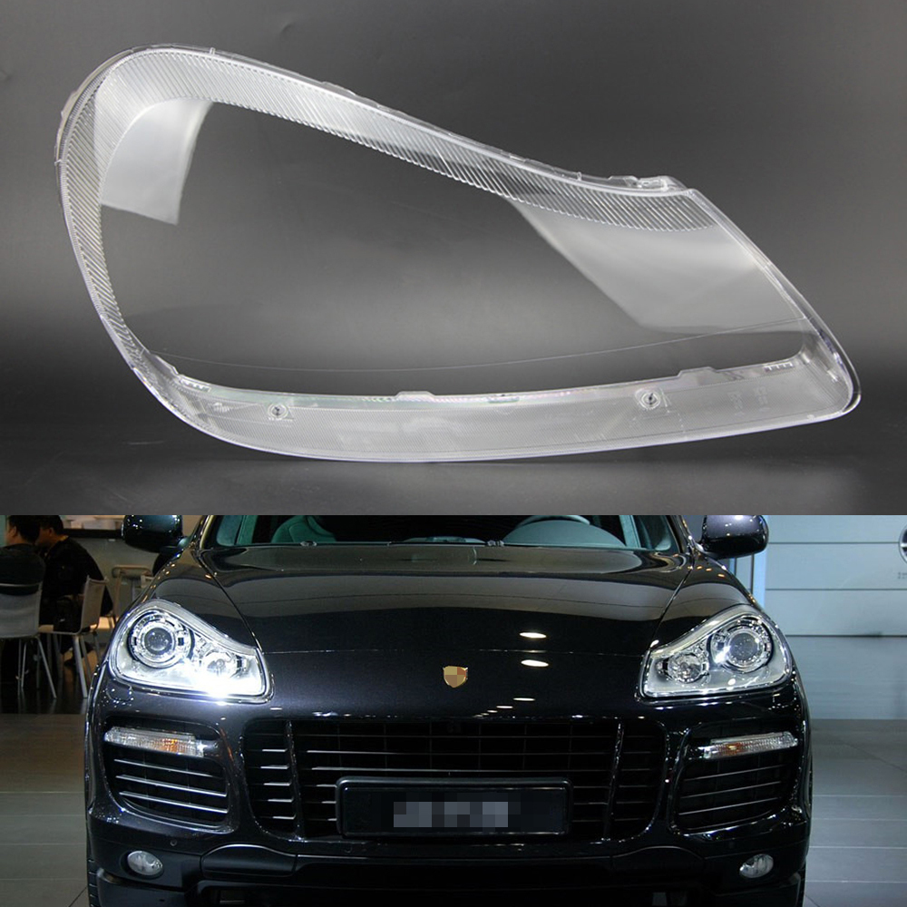 For Porsche Cayenne 2007 2008 2009 2010 Car Headlight Headlamp Clear Lens Auto Shell Cover Driver