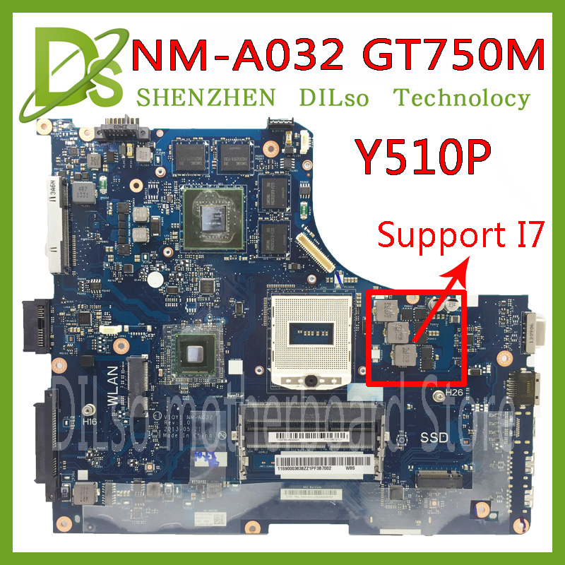 KEFU Y510P VIQY1 NM-A032 REV:1.0 Y510P Laptop Motherboard For Lenovo Y510P NM-A032 GT750 Test Motherboard