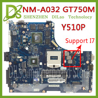 KEFU Y510P VIQY1 NM A032 REV:1.0 Y510P laptop motherboard for Lenovo Y510P NM A032 GT750 Test motherboard