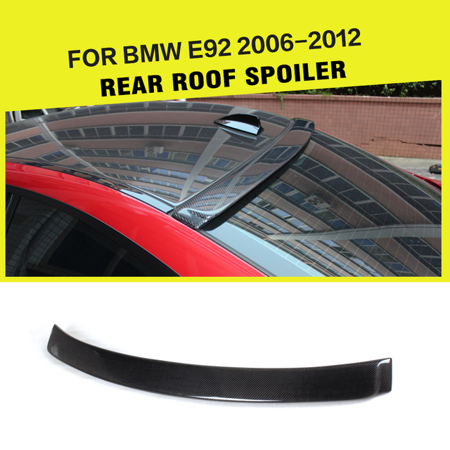 Car-Styling Carbon Fiber Auto Roof Wing Spoiler Lip for BMW 328i 335i 3 Series E92 Coupe 2007 - 2012