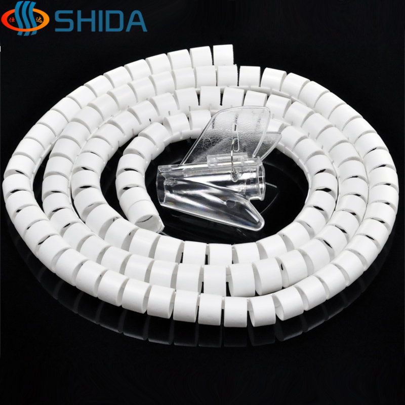 28mm Dia 5M 3 Color Cable Sleeve Spiral Wrapping PE Line Pipe ...