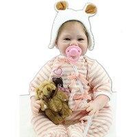 אמיתי מחפש סיליקון בובת יילוד Reborn בובה עם בגדים עיניים כחולות, יפה כמו בחיים תינוק Reborn צעצועי בובת ילד