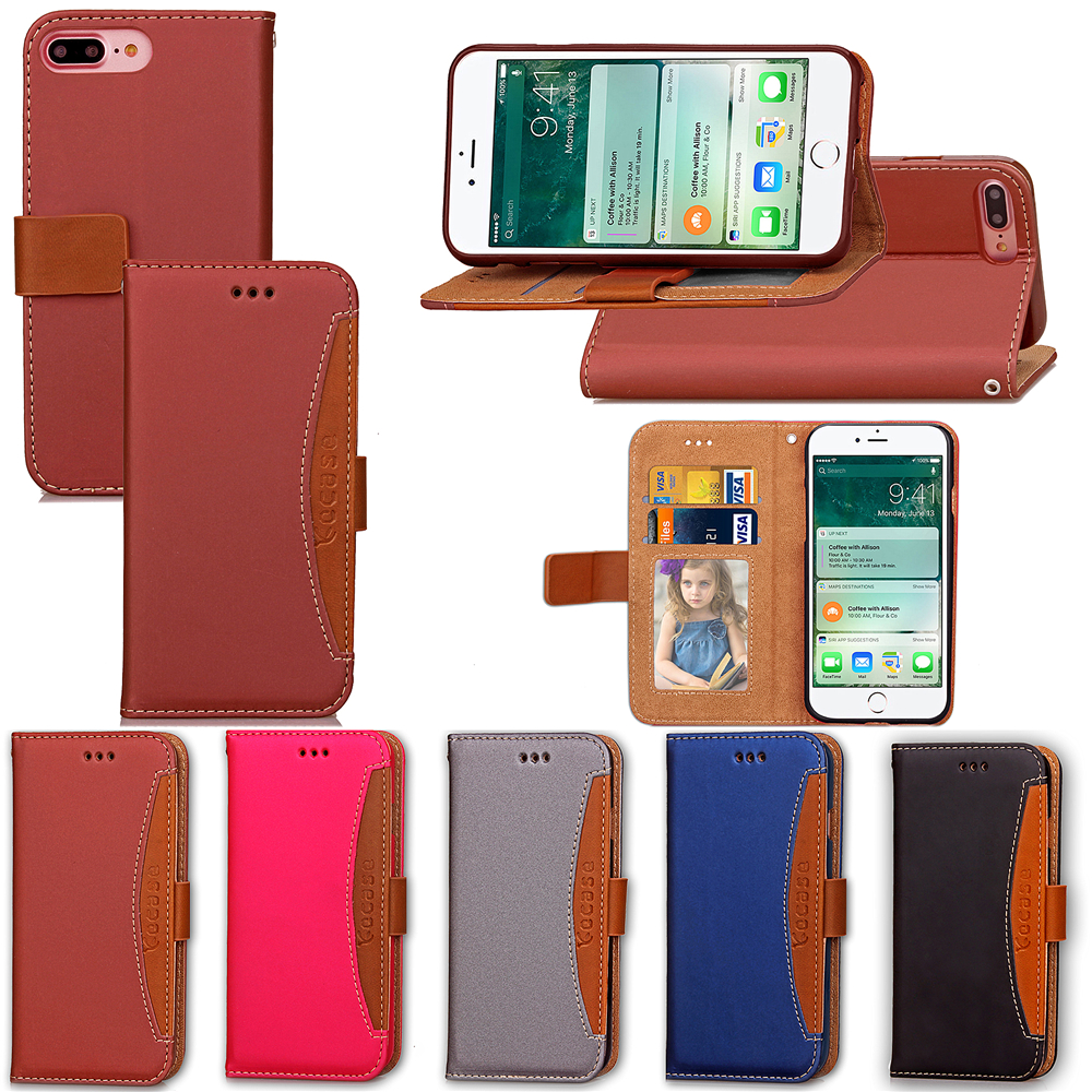 For iPhone 7 Cases New Hit Color Leather Ultra Flip Case For iPhone 7 7plus Card Holder Stand Cover Mobile Phone Bag