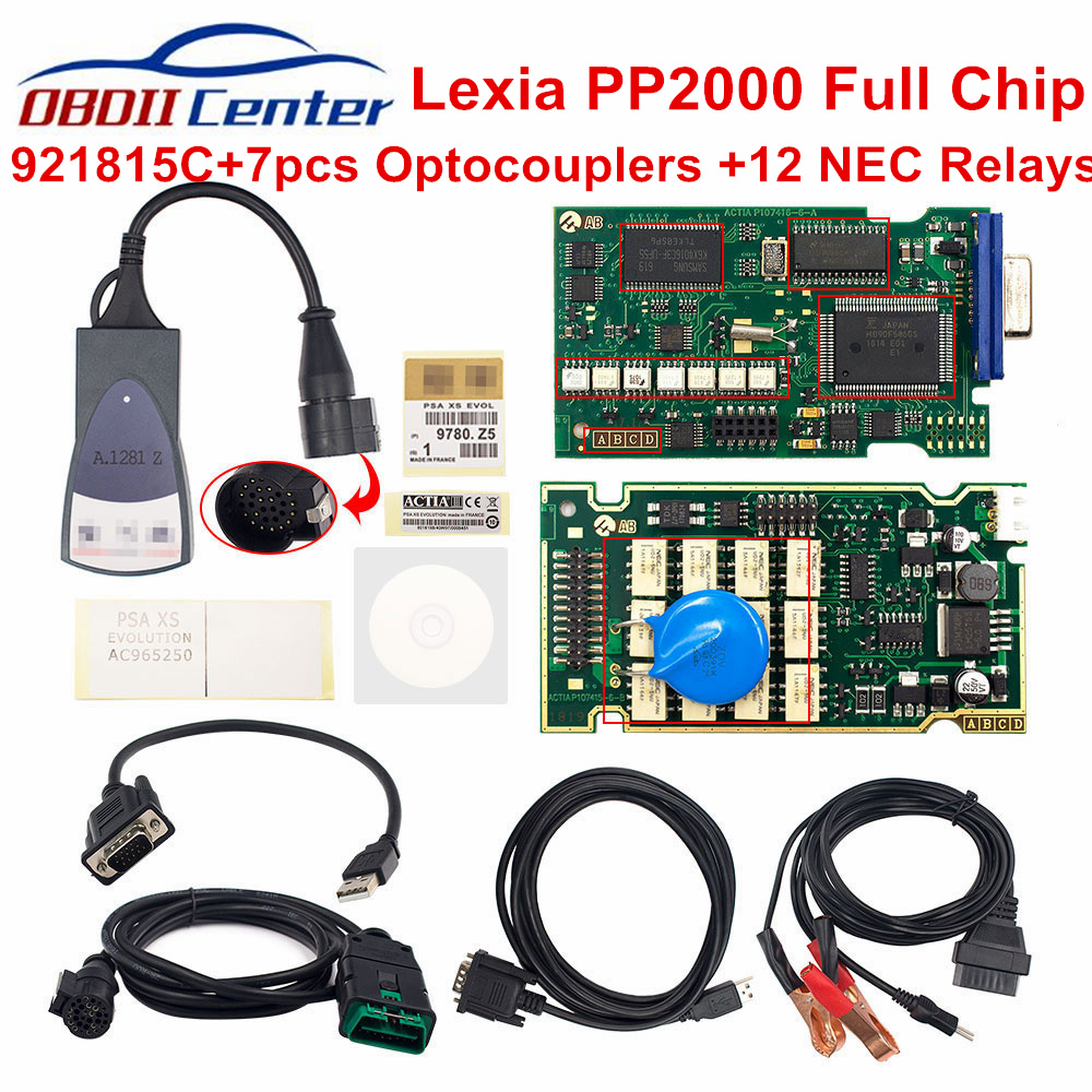 Lexia3 Full Chip 921815C Diagnostic Tool Lexia 3 PP2000 Diagbox V7.83 For Peugeot/Citroen Golden Edge Lexia3 Auto Scanner