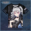 Japanese Anime Idolmaster Ranko Kanzaki T-shirt Polyester T Shirt Summer Active Animation Men Women Clothing