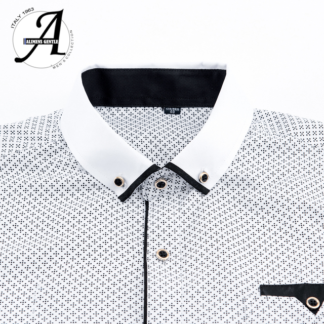 Printed Plaid Polka Dot Men Shirt Long-Sleeved Casual Shirts For Men Slim Fit 21 Colors Male Dress Shirts Camisas Masculina 3