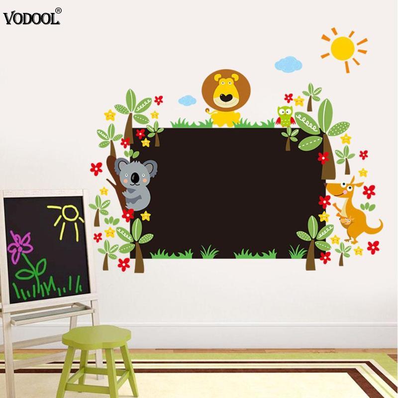 Waterproof Small Animal Blackboard Stickers Kids Room Decor Children Teaching Learning Blackboard Office School Supplies