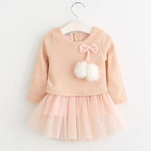Baby Autumn Pink Long Sleeved Tutu Dress