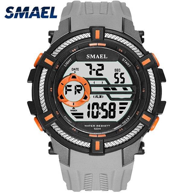 SMAEL nuevo deporte reloj hombres reloj de Dial grande relojes militares  hombre reloj Digital LED 50 cc8077dea04c