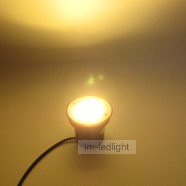 LED floor spotlights 24V 3W led outdoor deck light dia100mm warm ...