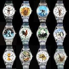 Купить с кэшбэком Dolphin/ Cat/ African Lion/ Tiger/ Penguin/ Giraffe/ Snake/ Rooster/ Monkey/ Polar Bear/ China Panda Sport Quartz Wrist Watch
