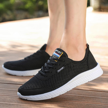 2019 Men Casual Shoes Sneakers Breathable Mesh Ultralight Comfortable Outdoor Walking Footwear Men Lace Up Flats Big Sizes
