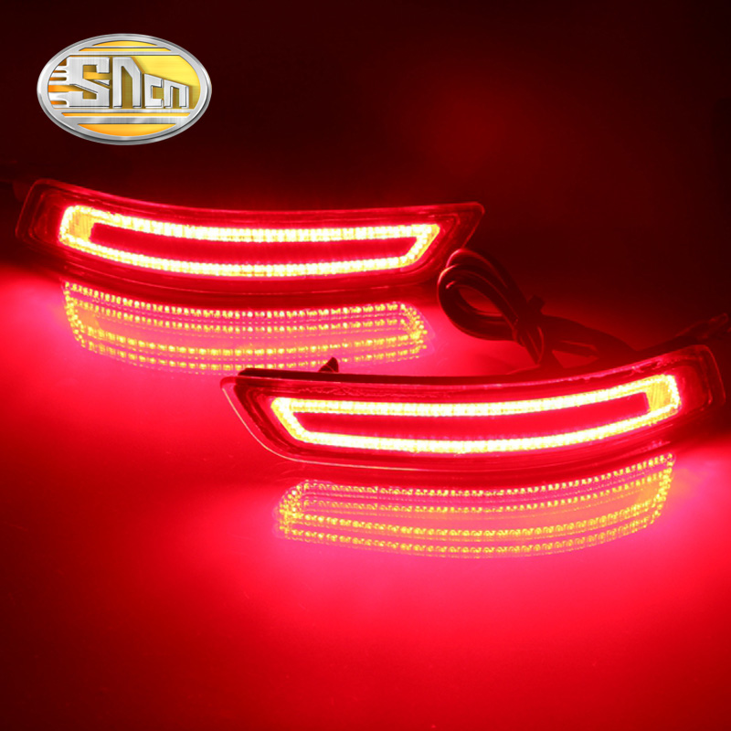 For Toyota Corolla 2014 - 2016 SNCN Multi-function Car LED Rear Fog Lamp Bumper Light Brake Light Turn Signal Light Reflector new for toyota altis corolla 2014 led rear bumper light brake light reflector novel design top quality fast shipping