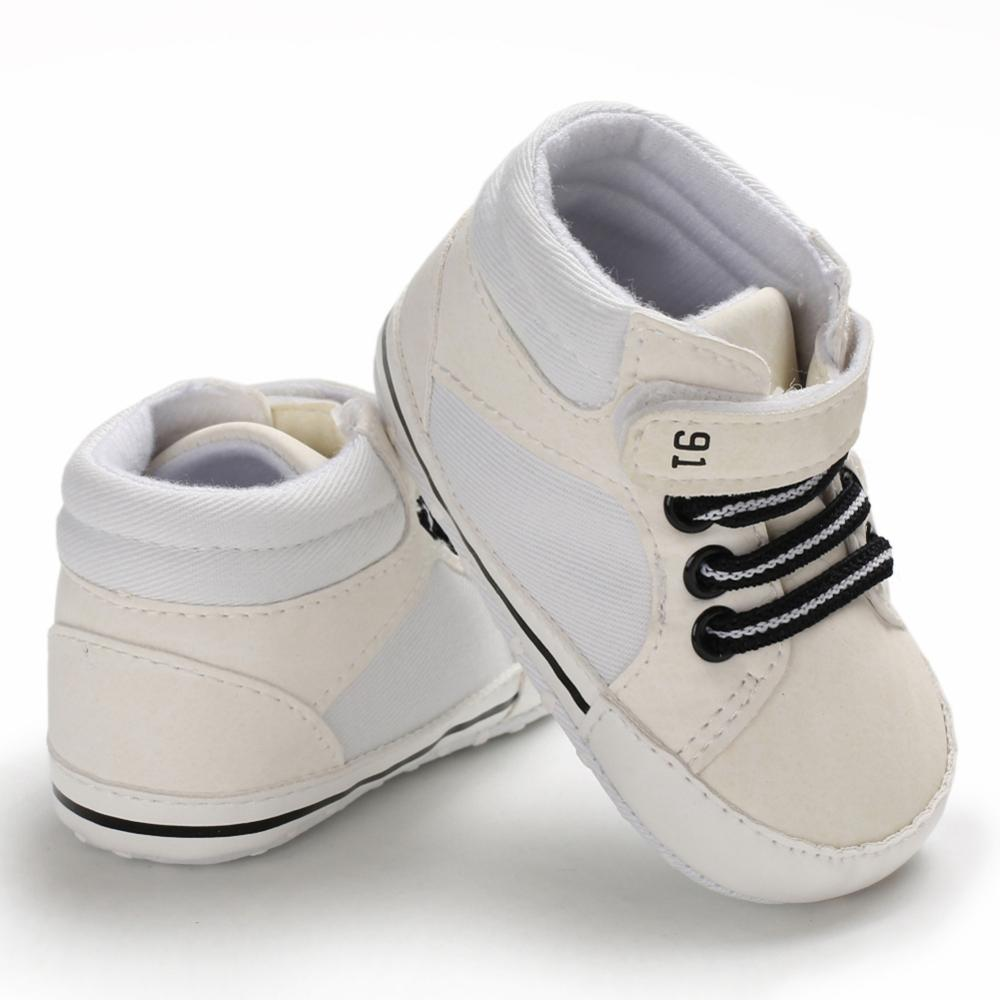 Polwer Newborn Baby Girls Boys Breathable Sneakers First Walker Soft Sole Shoes