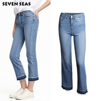 Fashion New Ladies Casual Flare Jeans Women Vintage Tassels High Waisted Jeans Femme Denim Pants