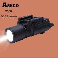 Askco Tactical LED Pistol M4 Rifle Flashlight X300 Lanterna Ultra White Light 500 lumens For Hunting Shooting