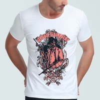 POIT Death Skeleton Printing Men S T Shirts O Neck Short Sleeve High Quality Fashion Casual