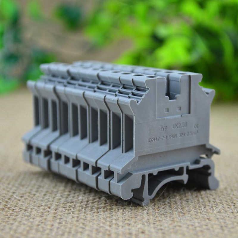 UK2.5B UK Series DIN Rail สกรู Clamp บล็อก Strip