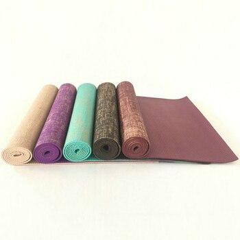 Thick Linen 5mm 183*61cm Lengthened Natural Jute Tapis Yoga Mats Tasteless