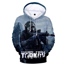 2019 The latest hip hop casual 3D hooded sweatshirt game Escape from Tarkov men and women printing mens