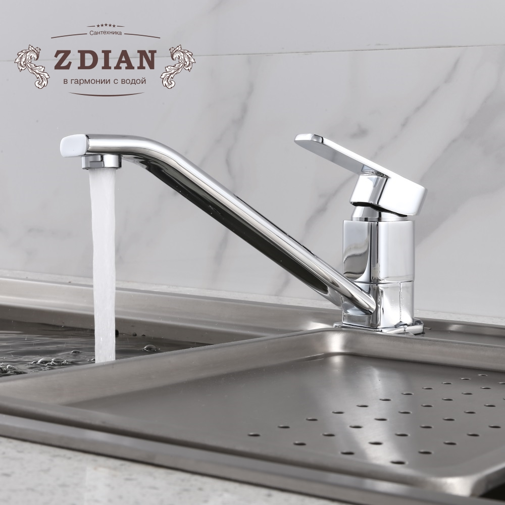 Kitchen Faucet Chrome Kitchen Sink Faucet Single Handle Mixer Tap Faucet 360 Rotation Kitchen Faucets Wall Mounted Kitchen Taps