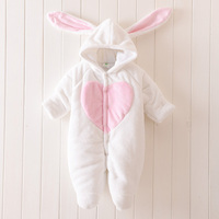 Winter Newborn Warm Baby Rompers Infant Baby Clothes Fleece Animal Style Clothing Romper Baby Clothes Cotton-padded Overalls