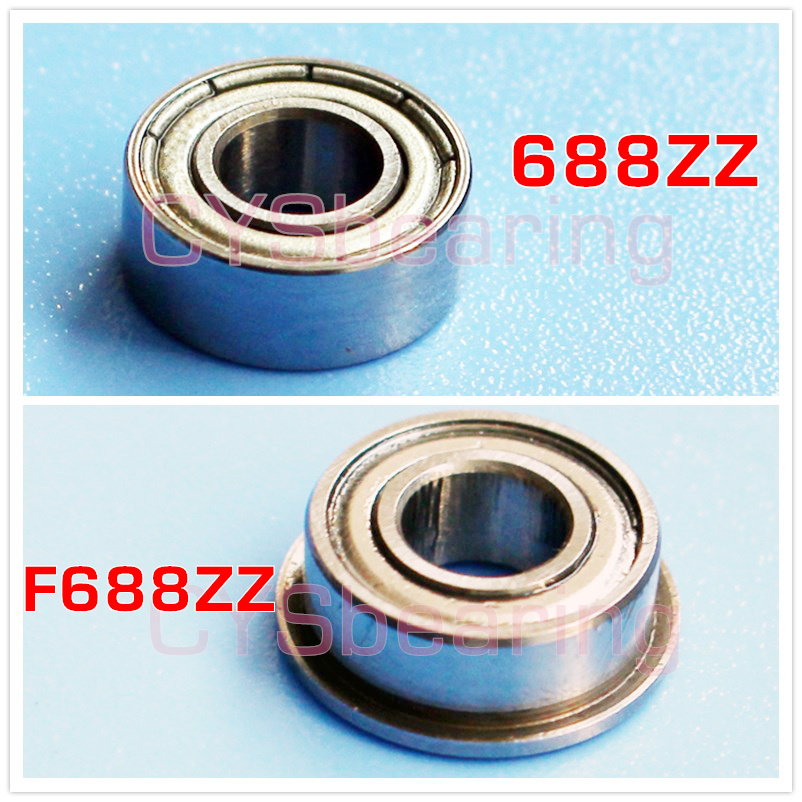 5pcs Miniature Flange Bearing 9x17x5mm 9x17x5 F689ZZ