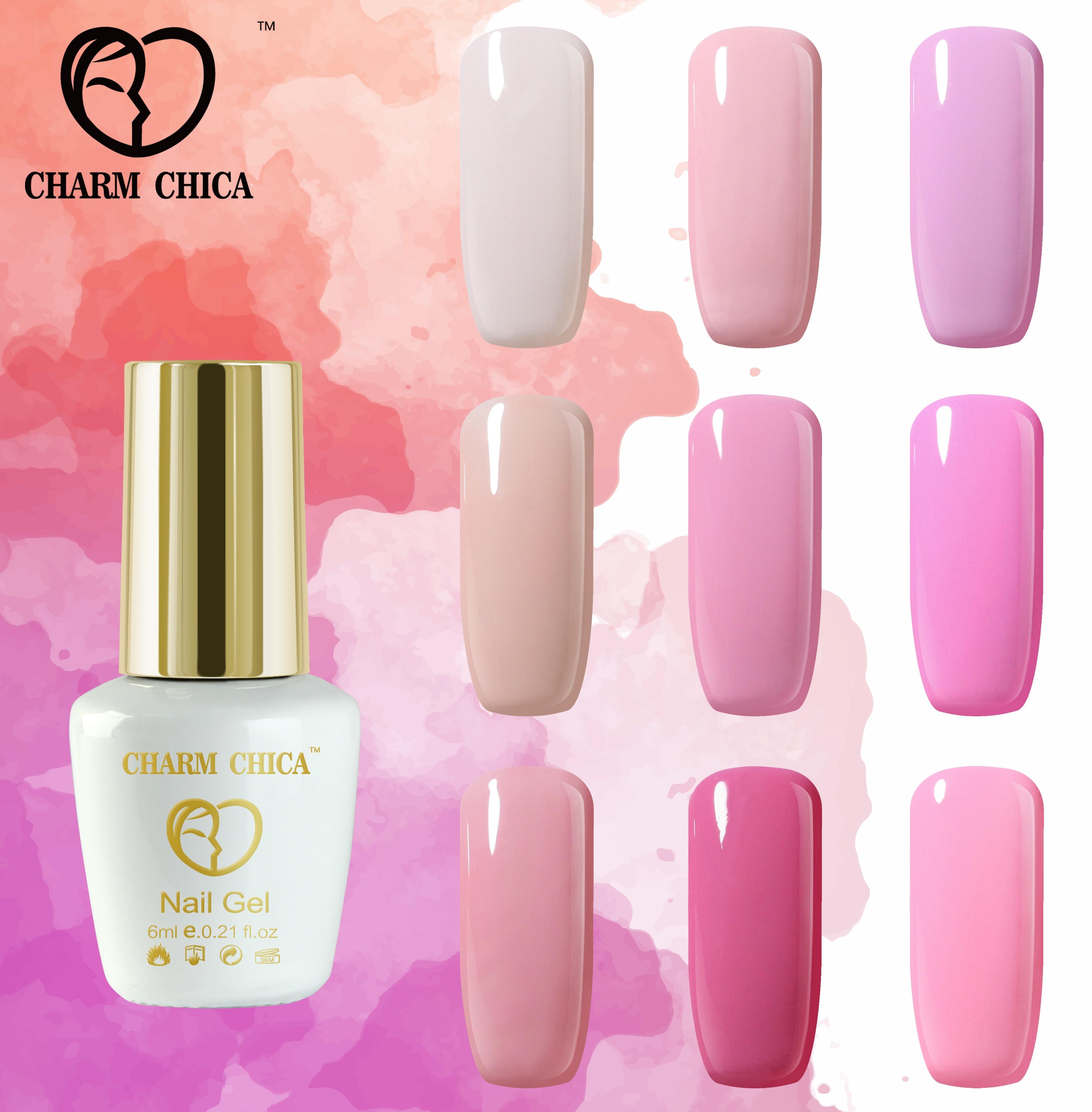 CHARM CHICA Baby Pink Gel Nail Polish Nails Art Store UV Gel Nail ...