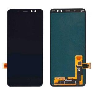 Image 2 - Super AMOLED Für samsung A8 lcd 2018 A530f touchscreen digitizer Montage A530DS A530N für samsung a530f display mit rahmen