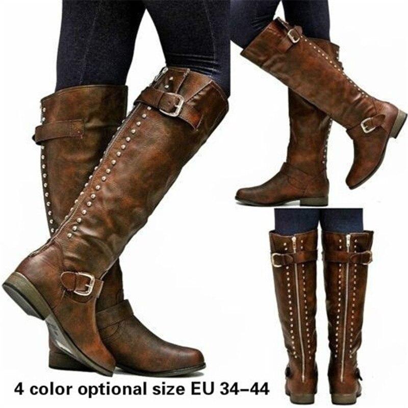 купить 2017 New Snow Boots Women Fashion PU Leather Classic Motorcycle Punk Boots Winter Unisex Snow Shoes Gladiator Retro Army Boots недорого