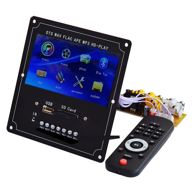 DTS Sans Perte Module Bluetooth Sans Fil Audio Décodeur Vidéo Écran LCD MP4/MP5 HD Vidéo SINGE/WAV/MP3 Carte de Décodage