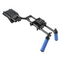 CAMVATE DSLR Rig Shoulder Support Mount Rig Kit+Dual Handle Grip Video Camera Stabilizer Dslr Cage Steadicam Accessories C1139