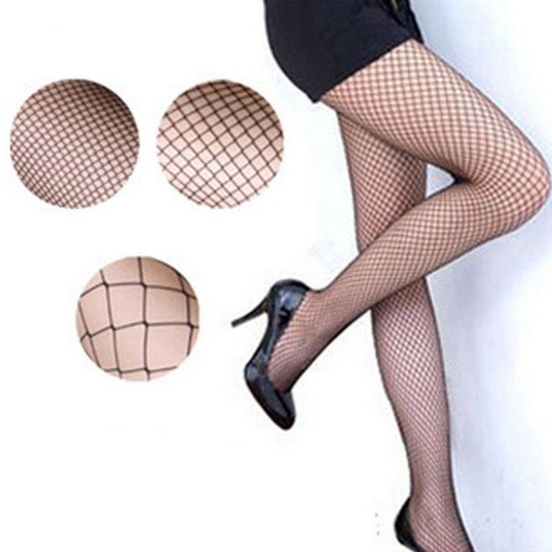 1 Pair Women Sexy Pantyhose Mesh Fishnet Nylon Tights Long Stocking Jacquard Step Foot Seam Pantyhose High Over Knee 2017