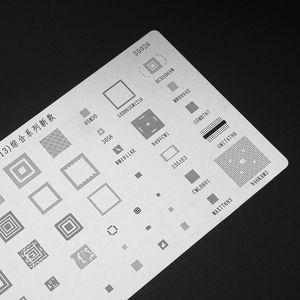 Image 4 - High Quality 3pcs universal BGA Stencils for MTK Samsung HTC Huawei Android Directly Heated BGA Reballing Stencils Kit